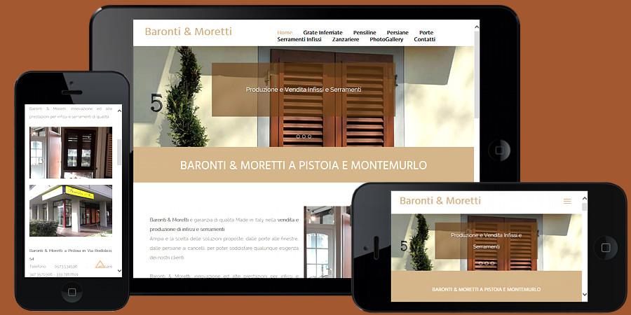 Nuovo sito web Baronti e Moretti Pistoia e Montemurlo